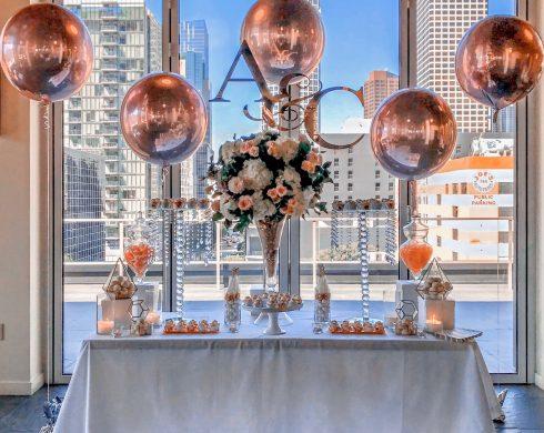 Rose Gold Modern LA Table